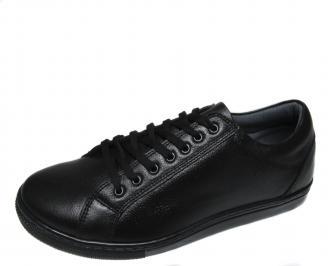 Мъжки обувки естествена кожа черни ARDG-20570