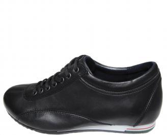 Мъжки обувки естествена кожа черни GYNA-20619