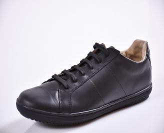 Мъжки обувки естествена кожа черни VQWT-21124