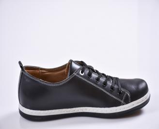Мъжки обувки естествена кожа черни XJVZ-21127