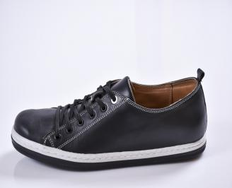 Мъжки обувки естествена кожа черни 6