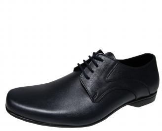 Мъжки  обувки естествена кожа тъмно сини CRCB-21413