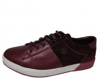 Мъжки обувки естествена кожа червени ZKLV-21849