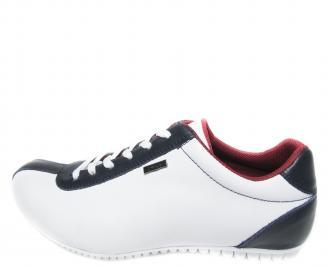 Мъжки обувки естествена кожа бели YOXR-11196