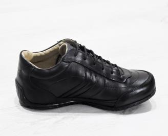 Мъжки обувки естествена кожа черни GCFP-22329