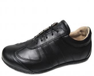 Мъжки обувки естествена кожа черни CUJH-22331