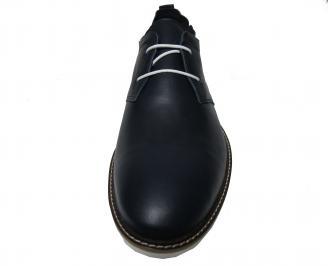 Мъжки  обувки естествена кожа тъмно сини ZPSB-22371
