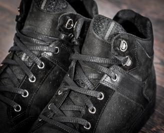 Мъжки обувки естествена кожа черни BACI-22731