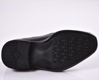 Мъжки обувки естествена кожа черни JBIN-23001