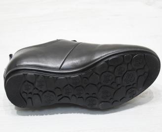 Мъжки обувки естествена кожа черни JDOO-23075