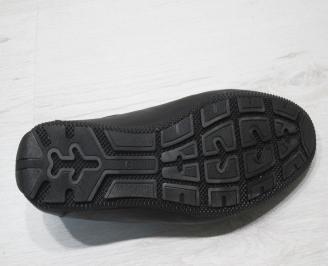 Мъжки обувки естествена кожа черни DHVM-23082