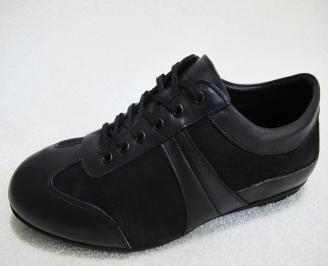 Мъжки обувки естествена кожа черни JFUO-23083