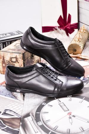 Мъжки обувки естествена кожа черни WRWH-23085