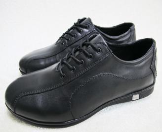 Мъжки обувки естествена кожа черни SFML-23086