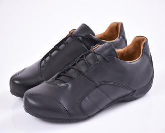 Мъжки обувки естествена кожа черни KEKZ-23366