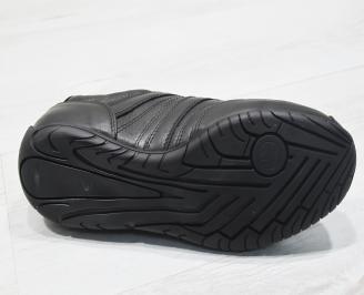 Мъжки обувки естествена кожа черни IENA-23367