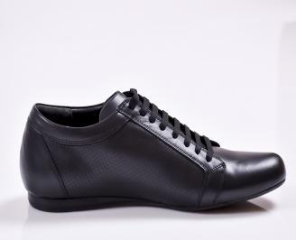 Мъжки обувки естествена кожа черни ULMM-23381