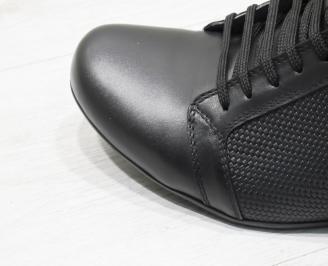 Мъжки обувки естествена кожа черни PPWS-23382
