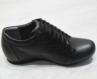 Мъжки обувки естествена кожа черни YQRV-23384