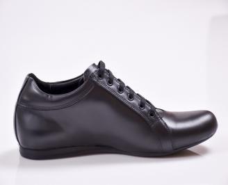 Мъжки обувки естествена кожа черни AGOC-23385