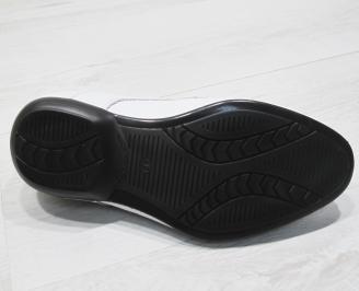 Мъжки обувки естествена кожа  бели PVZP-23392