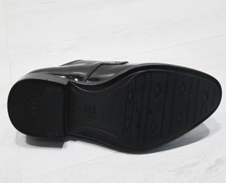 Мъжки обувки естествена кожа с лаково покритие UZBI-23398