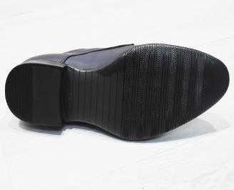 Мъжки обувки естествена кожа тъмно сини NOYN-23471