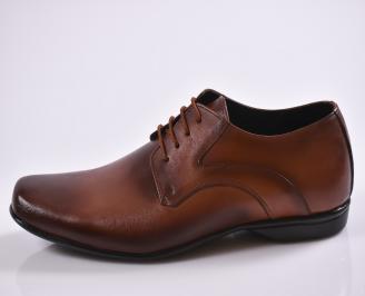 Мъжки обувки естествена кожа кафяви MLWE-23472