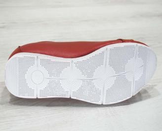 Мъжки обувки естествена кожа червени HRTT-23475