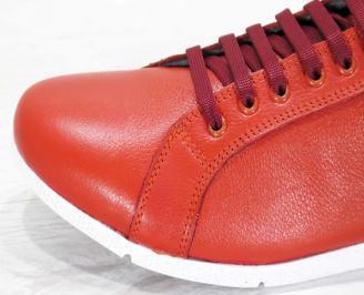 Мъжки обувки естествена кожа червени 5