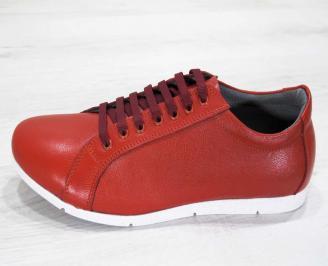 Мъжки обувки естествена кожа червени 6