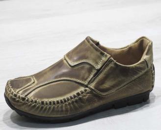 Мъжки обувки естествена кожа бежови TEBZ-23496