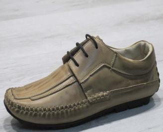 Мъжки обувки естествена кожа бежови DIWH-23497