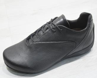 Мъжки обувки естествена кожа черни WZSK-23843
