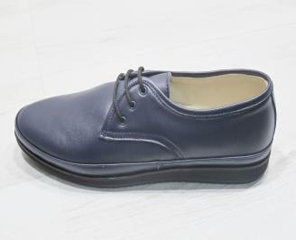 Мъжки обувки естествена кожа тъмно сини GSXQ-23846