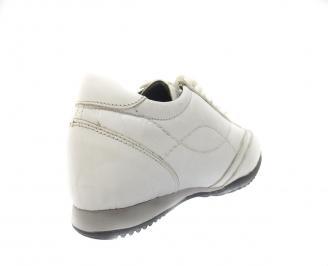 Мъжки обувки естествена кожа бели IASG-11398