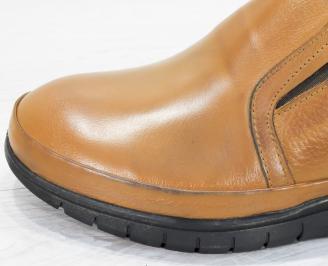 Мъжки обувки естествена кожа кафяви DYLA-25246