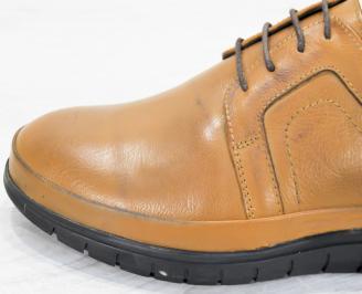 Мъжки обувки естествена кожа кафяви WOBH-25247
