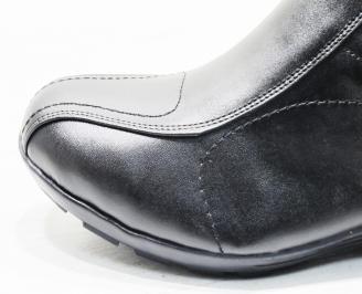 Мъжки обувки естествена кожа черни XOMC-25529