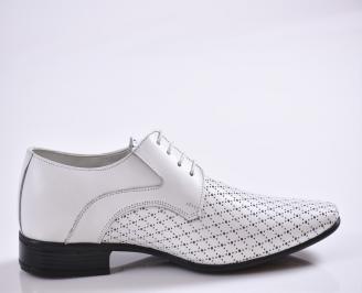 Мъжки обувки естествена кожа бели AVWY-26999