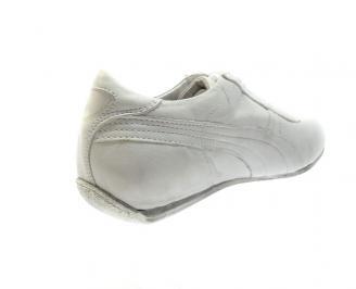 Мъжки обувки естествена кожа бели SGZX-12021