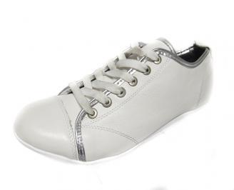 Мъжки обувки естествена кожа бели VDVE-12693