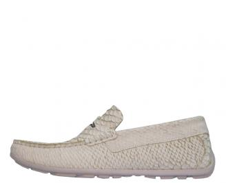 Мъжки обувки  естествена кожа бели UCIN-10305