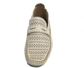 Мъжки обувки  естествена кожа бежови PGVR-10320