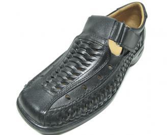 Мъжки обувки естествена кожа черни ELUI-13639