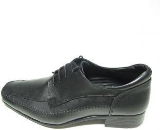 Мъжки обувки естествена кожа официални черни XNFJ-13669
