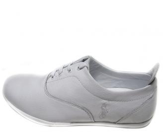 Мъжки обувки естествена кожа бели AXHV-14542
