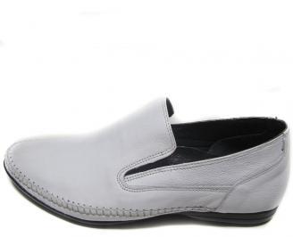 Мъжки обувки естествена кожа официални бели WEBO-14550