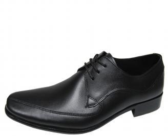 Мъжки обувки естествена кожа черни OVOX-15201