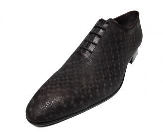 Мъжки обувки естествена кожа кафяви OLLI-15780